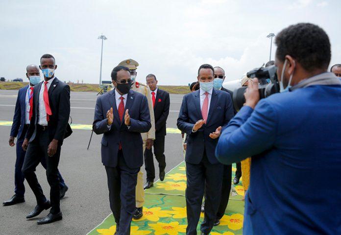 Somalia president in Ethiopia's capital